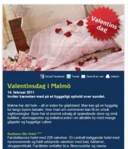 Romantisk miniferie på Radisson Malmö