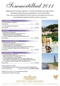 Se produktblad for sommertilbud på Vejlefjord